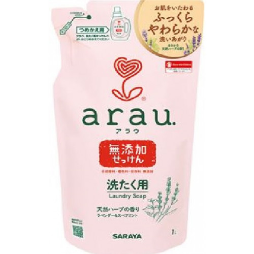 Arau Baby liquid for washing baby clothes with lavender and mint extracts, refill 1000ml