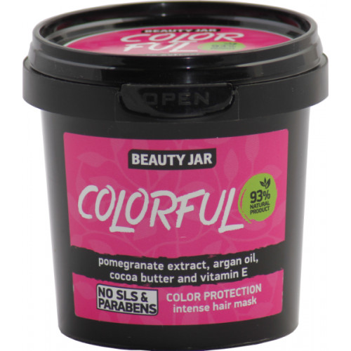 """Beauty Jar """"Colorful""""-сolor protection intense hair mask 150g"""