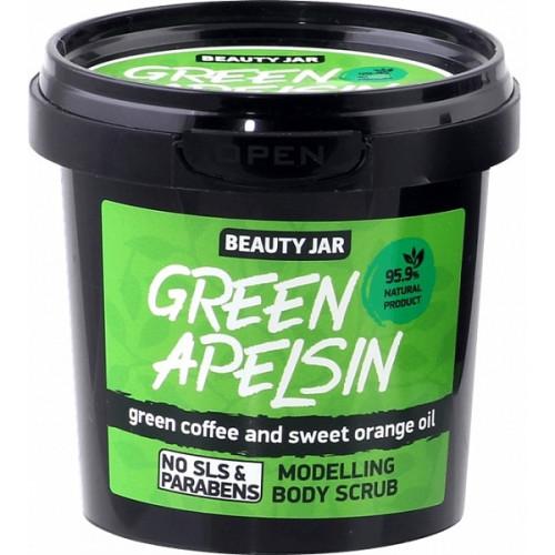 "Beauty Jar ""Green Orange""-modelling body scrub 200g"