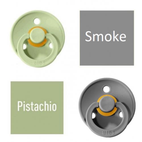 Bibs Pistachio/Smoke Pacifier made of 100% natural rubber - cherry shape 6-18 months (2 pcs.)