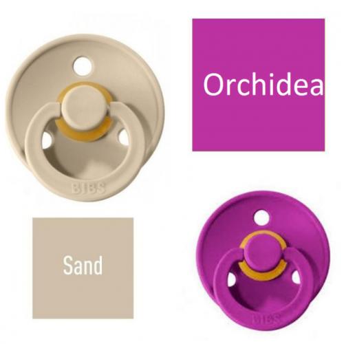 Bibs Sand/Orchidea Pacifier made of 100% natural rubber - cherry shape 6-18 months (2 pcs.)