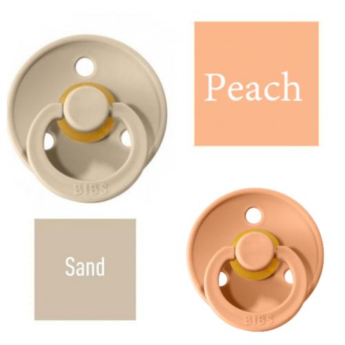 Bibs Sand/Peach Pacifier made of 100% natural rubber - cherry shape 0-6 months (2 pcs.)