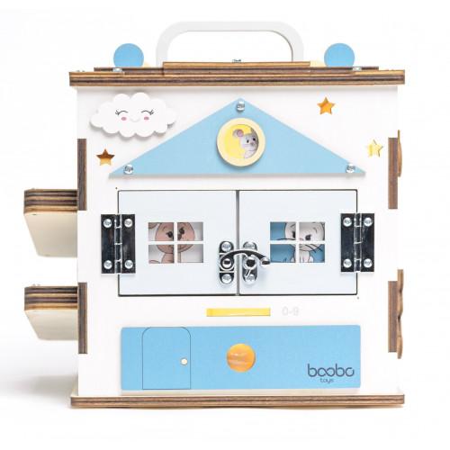 Boobo Toys Busy Cube Medium Blue for boys