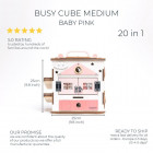 Boobo Toys Busy Cube Medium Pink for girls
