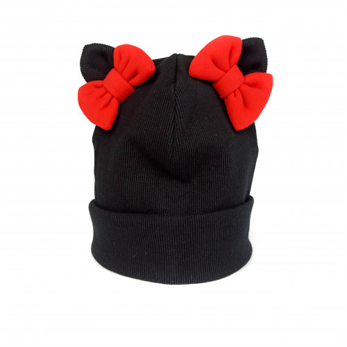 Childrens cotton spring hat with bows
