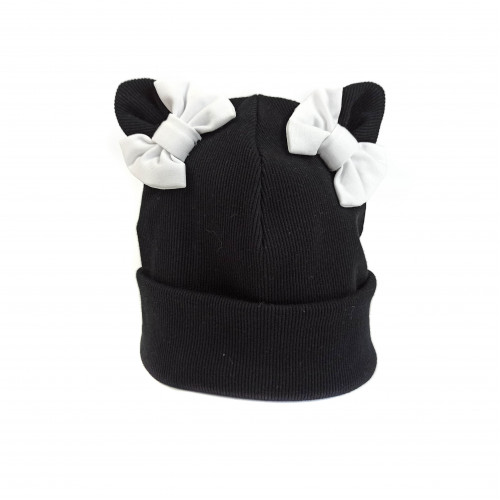 Children's cotton spring hat with bows