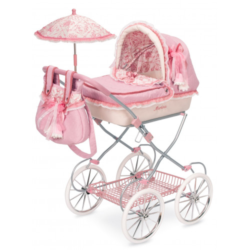 DeCuevas 810269 Martina Doll stroller with carrycot and umbrella