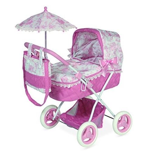 DeCuevas 850210 Daniela Doll stroller with carrycot and umbrella