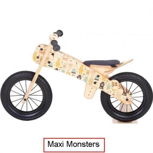 Dip Dap Maxi MONSTERS The wooden runbike 3-6 years