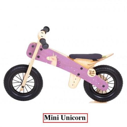 Dip Dap Mini UNICORN the wooden runbike 2-4 years