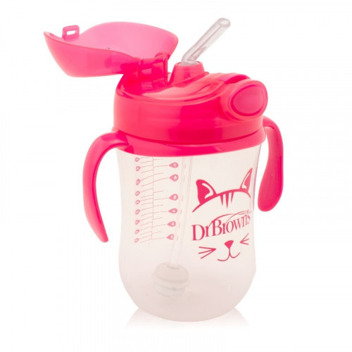 Dr.Browns TC91011 Baby's first straw cup with handles