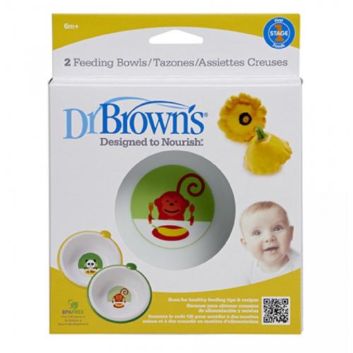 Dr.Browns 730 Non-slip food bowls, 2 pcs., 6m +