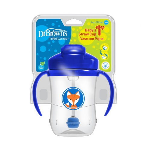 Dr.Browns TC91102 Baby's first straw cup with handles