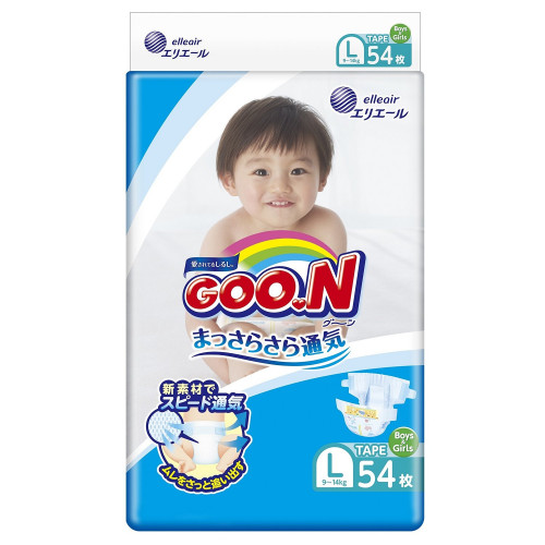 Diapers Goo.N L 9-14kg 54pcs