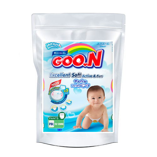 Diapers-panties Goo.N PBL boy 12-20kg sample 3pcs