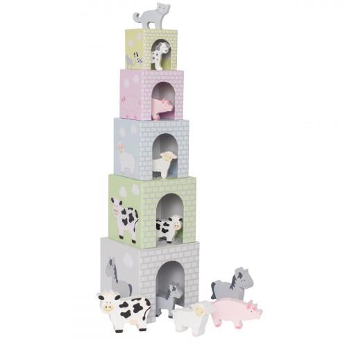 JaBaDaBaDo C2504 Stacking cubes animals