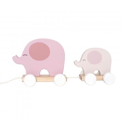 JaBaDaBaDo C2514 Pull elephant pink