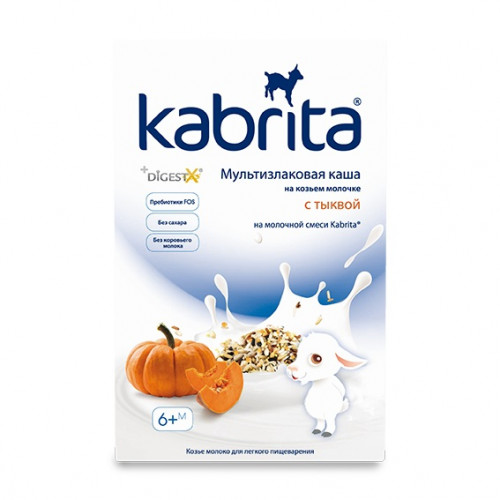 Kabrita multigrain cereal with pumpkin with goat milk for infant nutrition from 6 months 180g