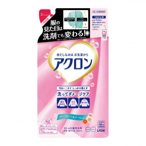 """Lion """"Acron"""" liquid laundry detergent with floral fragrance refill 400ml"""