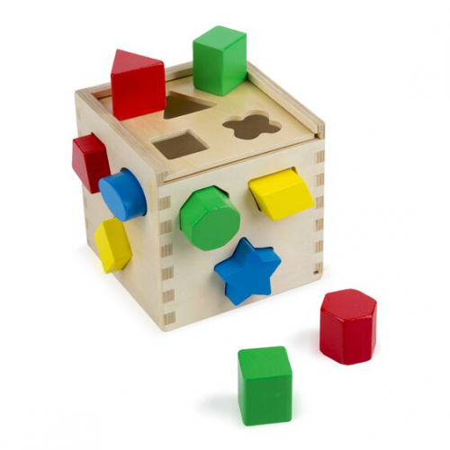 Melissa Doug 10575 Shape sorting cube classic toy