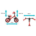 Milly Mally Dragon Children's bike - runner with metal frame and inflatable wheels