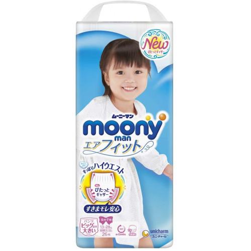 Diapers-panties Moony XL girl 13-28kg