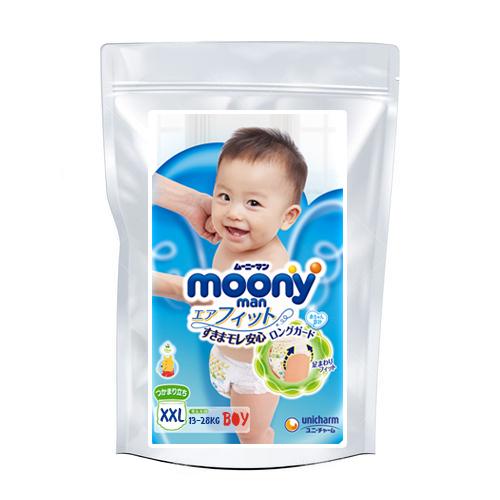 Diapers-panties Moony XL boy 13-28kg sample 3pcs