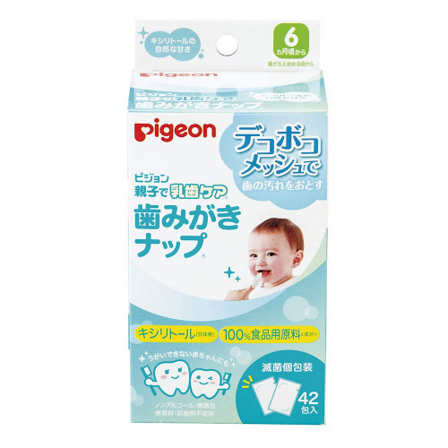 Pigeon baby milk tooth wet wipes 6month+ 42psc