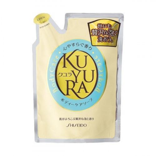 "Shiseido ""Kuyura"" body care soap with herbal aroma refill 400ml"