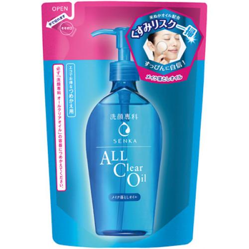"""Shiseido Senka """"All clear oil"""" makeup removal oil refill 180ml"""