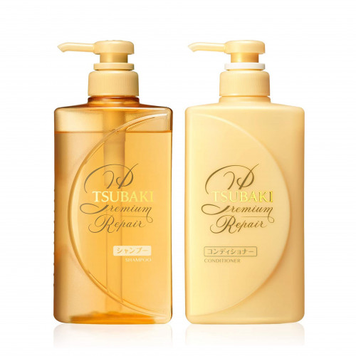 Shiseido Tsubaki Premium Repair shampoo 490ml+Shiseido Tsubaki Premium Repair hair conditioner 490ml