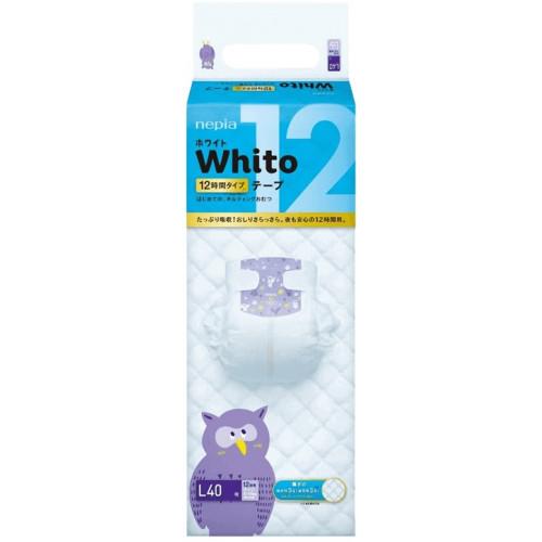 Diapers Whito L 9-14 kg 12h 40pcs