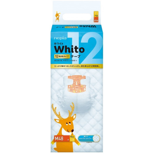 Diapers Whito M 6-11kg 12h 48pcs