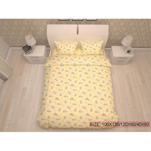 Baby bedding set 3-piece, BEARS 100x135/120x60/40x60cm