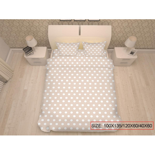Baby bedding set 3-piece, DOTS 100x135/120x60/40x60cm