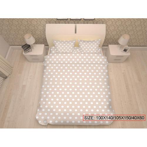 Baby bedding set 3-piece, DOTS 100x140/105x150/40x60cm