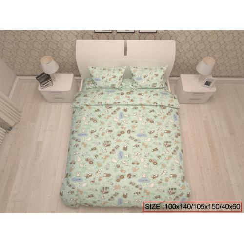 Baby bedding set 3-piece, HAPPY FARM 100x140/105x150/40x60cm