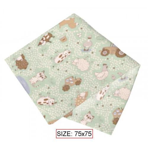 Cotton nappy for babies HAPPY FARM 75x75 cm