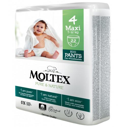 Diapers-panties Moltex Pure & Nature 4 Maxi 7-12kg 22pcs