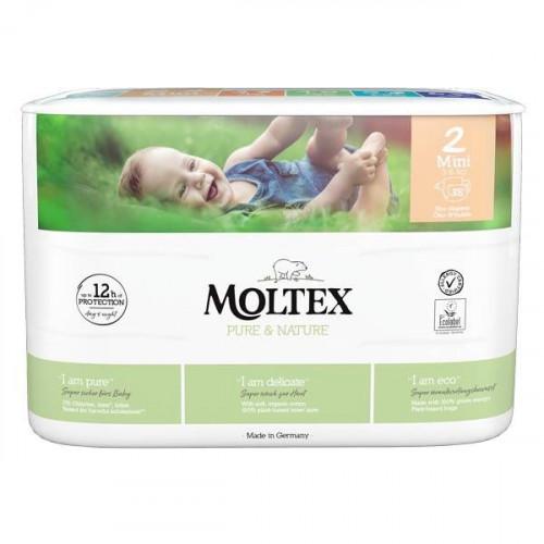 Diapers Moltex Pure & Nature 2 Mini 3-6kg 38pcs
