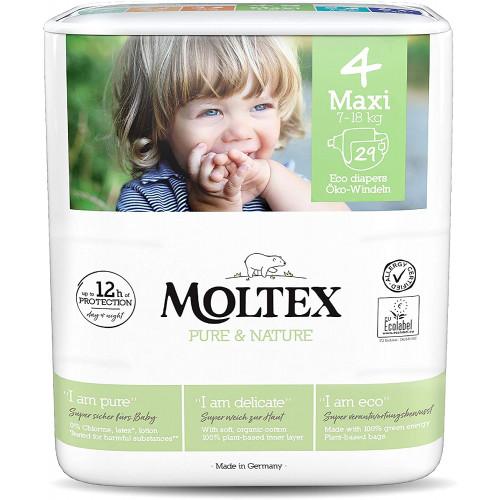 Diapers Moltex Pure & Nature 4 Maxi 7-18kg 29pcs