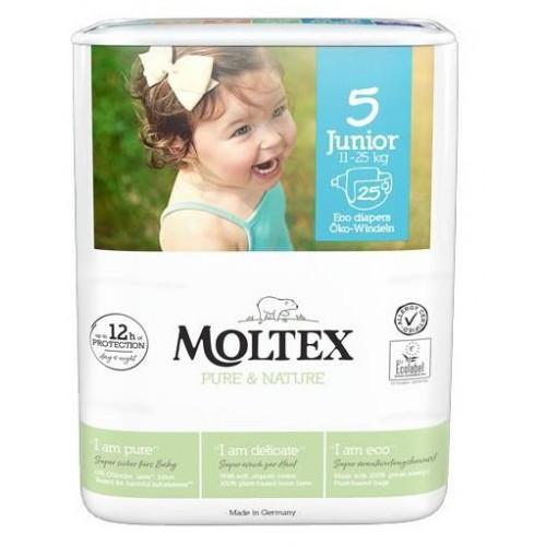 Diapers Moltex Pure & Nature 5 Junior 11-25kg 25pcs
