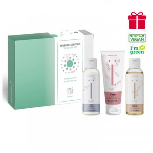 Naïf Baby & Kids Newborn Essentials kit - 3 products for a worry-free start