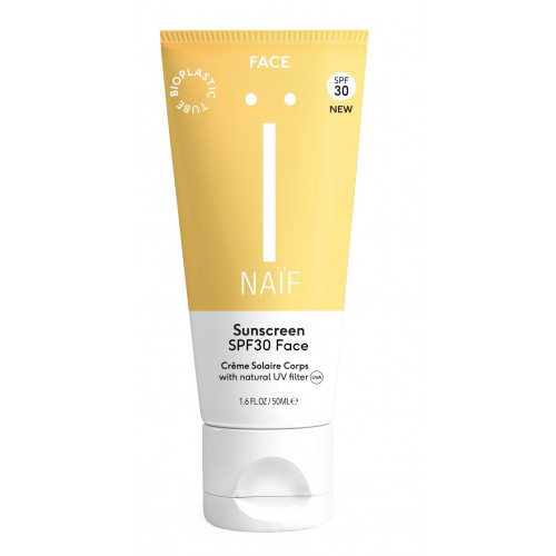 Naïf sunscreen face SPF30- natural sunscreen for face 50ml