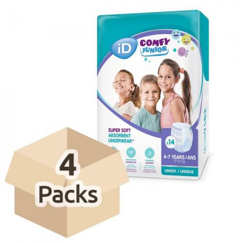 Diapers-panties iD Comfy Junior 17-27kg 56pcs (4x14)