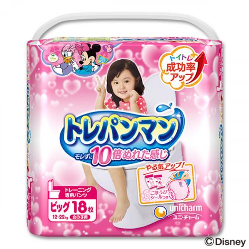 Training Pants Moony BIG 12-22kg for girls 18pcs