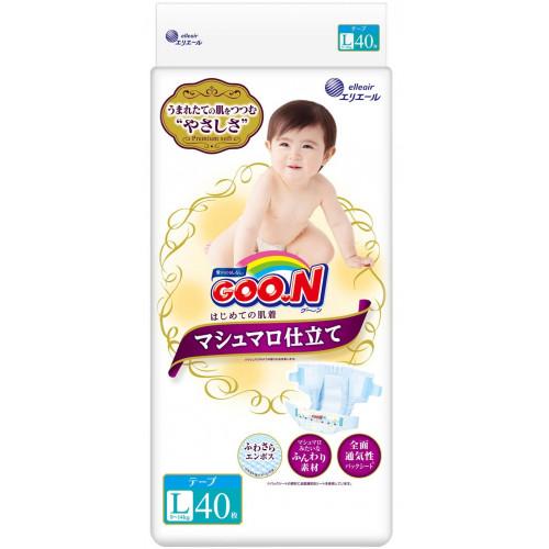 Diapers Goo.N Marshmallow Premium Soft  L 9-14kg